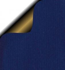 photo of Cadeaupapier 50cm x 200m blauw 70gr / m2 bruin kraft