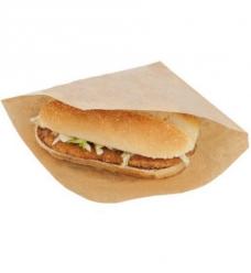 photo of Hamburger sandwichzak  16cm  x 16cm  onbedrukt natronkraft 45gr / m2