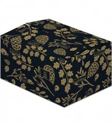 photo of Pakketdoos D 45cm x 35cm x 23cm zwart wishing gold