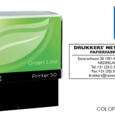 photo of Tekststempel Colop 50 green line+bon 7regels 69x30mm