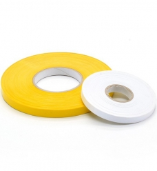 photo of Zaksluittape pvc 9mm x 200m geel