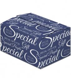 photo of Pakketdoos C 39cm x 29cm x 20cm blauw/wit Special gift