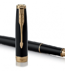photo of Rollerpen Parker Sonnet black lacquer GT F