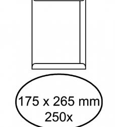 photo of Envelop akte 175x265mm zelfklevend 100gr wit 250stuks