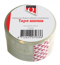 photo of Plakband Quantore 19mmx25m transparant
