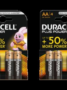 photo of Batterij Duracell Plus Power 4xAA alkaline