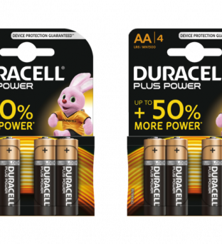 Batterij Duracell Plus Power 4xAA alkaline Product image