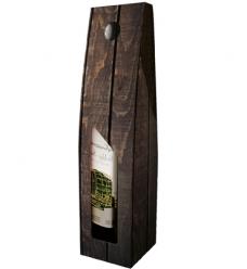 photo of Draagkarton 1 fles donkergrijs houten plank