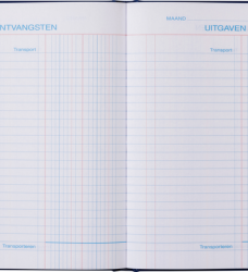 photo of Kasboek 165x210mm 192blz 2 kolommen blauw