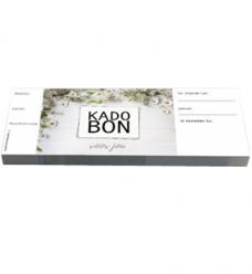 photo of Cadeaubon bloemen creme met strook genummerd