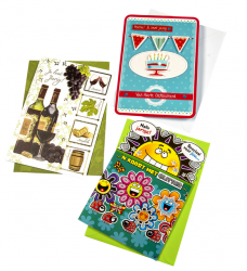 photo of Wenskaart Paperclip navulset verjaardag set à 12 kaarten