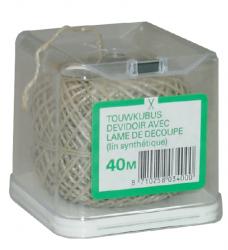 photo of Touw vlastouw 2-draads 40meter kubus met afsnijmes