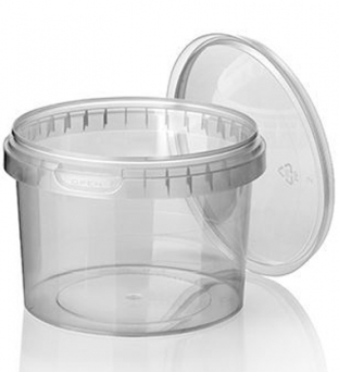 Cups+deksels rond 11.8cm x 8cm 565ml pp transparant   Product image