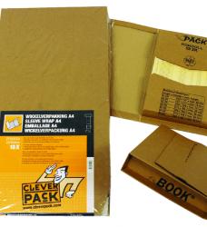 photo of Wikkelverpakking CleverPack A5 +zelfkl strip bruin 10stuks