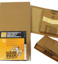 photo of Wikkelverpakking CleverPack cd +zelfkl strip bruin 10stuks