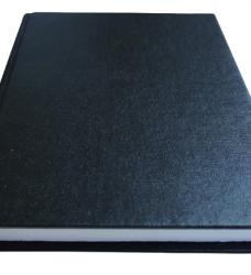 photo of Schrift met harde kaft A5 400blz lijn zwart