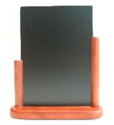 photo of Tafel krijtbord 10cm x 16cm   mahonie