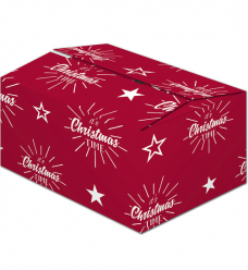 photo of Pakketdoos A 22cm x 33cm x 15cm rood/wit christmas red