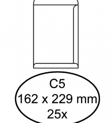 photo of Envelop Quantore akte C5 162x229mm zelfklevend wit 25stuks