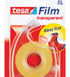 photo of Plakband Tesa film 19mmx33m transparant op dispenser