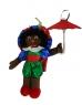 photo of Zwarte piet 35cm met paraplu