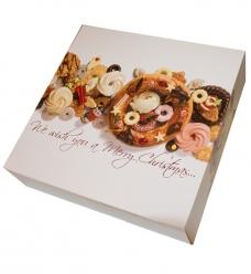 photo of Kransdoos 22.7cm x 22.7cm x 6cm wit kerst harmony