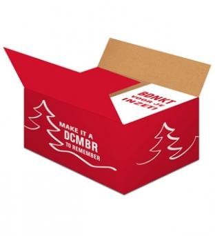 Pakketdoos D 45cm x 35cm x 23cm rood december  Product image