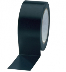 photo of Pvc tape 50mm x 66m zwart onbedrukt