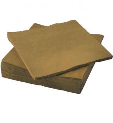 photo of Servet duni 33cm x 33cm goud 3 laags