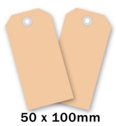 photo of Label nr 4 100mm  x 50mm chamois onbedrukt Karton