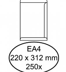 photo of Envelop Hermes akte EA4 220x312mm zelfklevend wit 250stuks