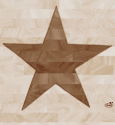 photo of Servet duni 33cm x 33cm wood star 3 laags