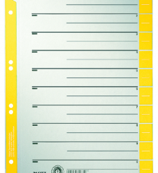 photo of Scheidingsbladen Leitz A4 karton 230gr 6-gaats geel