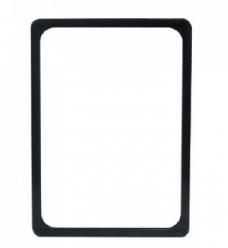 photo of Prijskaart raam kunststof 29.7cm x21cm zwart