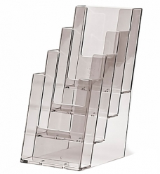 photo of Folderhouder 10.5cm x 14.8cm staand 4 vakken acryl