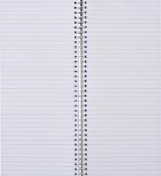 photo of Winkelboek smalfolio 160blz met zijspiraal oranje