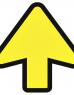 photo of Vloersticker OPUS 2 pijl geel/zwart