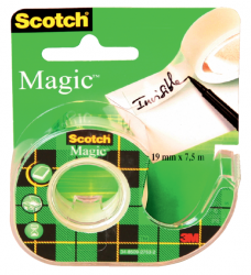 photo of Plakband Scotch Magic 810 12mmx10m onzichtbaar  + afroller