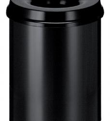 photo of Papierbak met vlamdover Vepabins 15liter 25.5cm zwart