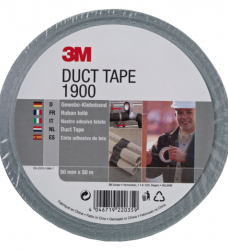 photo of Plakband 3M 1900 Duct Tape 50mmx50m zilver