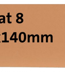 photo of Label karton nr8 200gr 70x140mm chamois 1000stuks