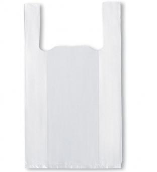 Hemddraagtas 27cm x 6cm x 48cm wit  hdpe 12µm geblokt/gewafeld Product image