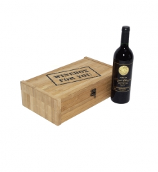photo of 1 Fles box winebox for you hout