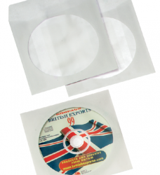 photo of Cd/dvd hoes Quantore met venster wit