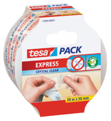 photo of Verpakkingstape Tesa 50mmx50m afscheurbaar transparant