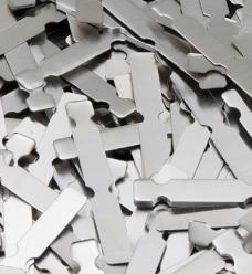 photo of  sluiting aluminium 3.7cm  x 0.5cm zilver