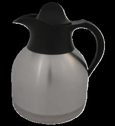 photo of Thermoskan koffiekan 1liter roestvrijstaal zwarte dop
