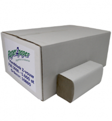 photo of Handdoekjes paper2paper 23cm x25cm   Z vouw 1 laag naturel