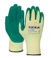 photo of Werkhandschoenen OXXA X-grip polyester/katoen met latex coating 9/L geel/groen