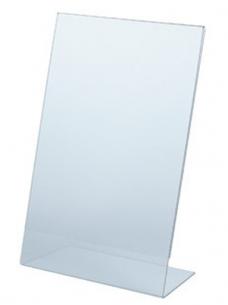 photo of Prijskaarthouder 21cm x 29.7cm L-model acryl